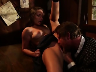 Flirtatious cutie Cassidy Klein and a lucky guy enjoy oral sex they will...