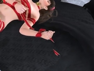 Christmas Pole Squeeze Present - Fabulous 3D hentai porn