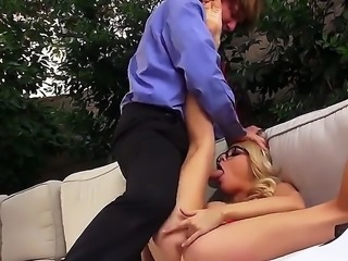 Check out with delicious blonde chick Riley Steele! She is office manager and likes to make mistakes in order to get punished by her cruel boss. Today she forgot to print documents and she knows how hard and cruely his hard fuck would be when he comes