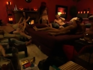 Couple swingers swap partner and foursome in Playboy mansion