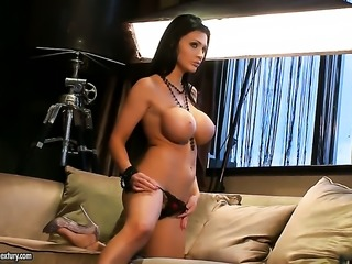 Aletta Ocean with giant knockers will make you cream your pants with her sexy...