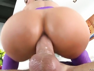 Jasmine Jae with juicy hooters gets her many times used mouth stuffed again by horny man