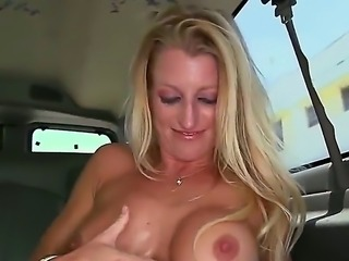 Avona Dominica is a busty blonde bartender that is taken for a ride. She is going to show us how well she fucks. She likes to pose and fuck.