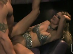 Jessica drake shows off her hot body as she gets her mouth drilled by mans...