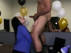 Improper office stripper party video leaked