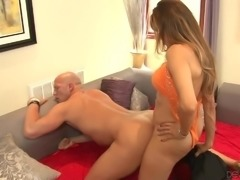 Nasty tranny Johanna B gets face fucked by curious dude Christian Xxx. Then...