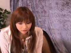 Serina Hayakawa JApanese teen spreads long legs to expose