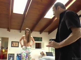 Riley Reed and Maddy Oreilly are in the mood for cock sucking again. Sweet sluts show off their nude bodies while giving head to Rocco Siffredi. Theres nothing better than two sexy chicks sucking your cock on their knees