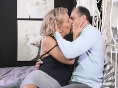 Busty milf creampied by her husband