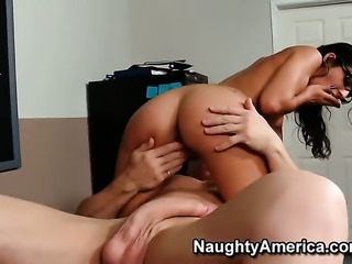 Evan Stone loves flirtatious Lou CharmelleS booty and bangs her as hard as...