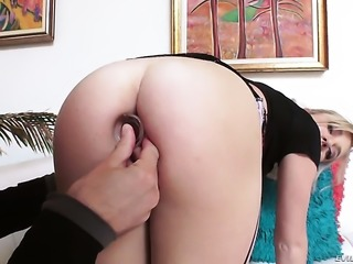 Tiffany Watson is a hard cock addict that gets her butt used by Mick Blue after dick sucking