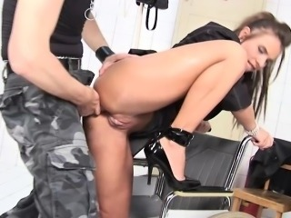 Dirty slut gets anally destroyed and she loves it