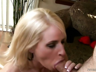 Madison James gets her pretty face covered in man semen