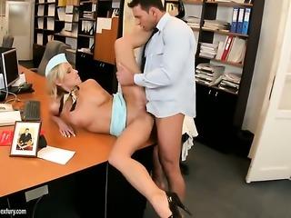 Warm porn girl rides rock solid sausage