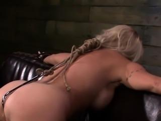 Rough fucked slut tied up