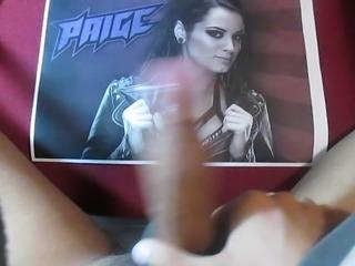 Cum tribute Paige WWE