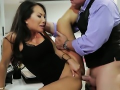 A blow job in the office
