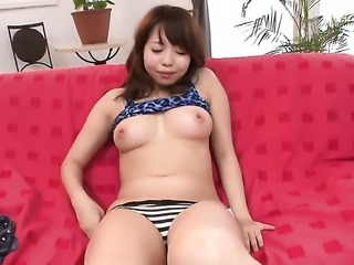 Teen Miyu Kaburagi gets painted with love cream