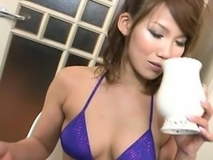 Gracious japanese girl charms with rousing titty fuck