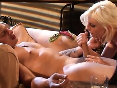 Blonde is getting pussy licking