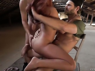Gala Brown plays with Nacho Vidals rock hard love torpedo before she takes it in her mouth