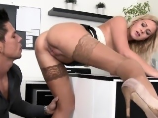 Staggered honey in lingerie is geeting peed on and banged