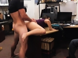 Two women try to steal and get fucked by pervert pawn guy