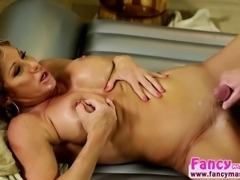 Mature and busty Farrah Dahl gets her pussy hammered