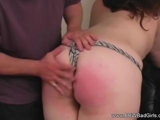 Spanking BBW Red Ass