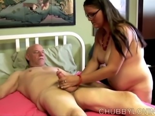 Cute chubby honey enjoys a hard fucking and cum all over her