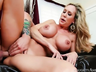 Blonde Brandi Love is hungry for sticky nectar