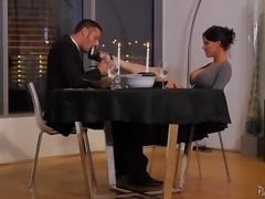 """Clit slit hammered Peta Jensen after romantic dinner"""
