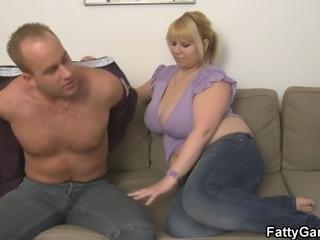 He picks up chubby blonde bbw