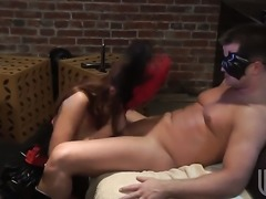 Asa Akira sucks the sticky nectar out of worm