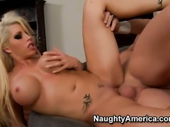 Evan Stone plays with soaking wet pussy of Brooke Haven with gigantic boobs...