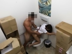 Uniformed pawnshop amateur cockrides after bj