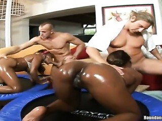 Brunette Kali with bubbly bottom and clean snatch and Casandra both have fierce appetite for lesbian sex