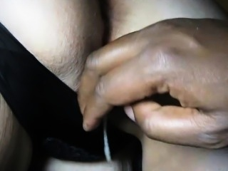 White pussy being fingered by a BBC