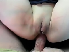 Amateur wife spreads her legs and gives her tight anal hole