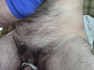 Mini bondage anal masturbation hands free cumshot