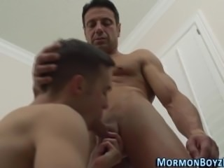 Uniform hunk gets sucked