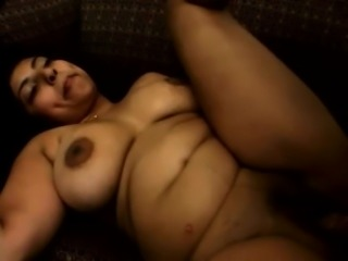 Thick preg bitch takes black dick