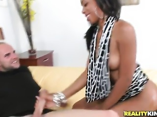 Cocoa Jmac with phat ass and trimmed twat feels good with rock hard meat stick in her mouth