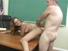 """Sexy student Macy Wislett lets her teacher have his way"""