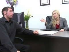 Ashley Fires Fucking Hard In The Office