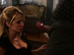 Jessica drake tries her hardest to make guy shoot his load