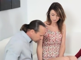Aspen Ora touches her step dads big cock