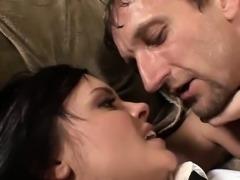 Kinky schoolgirl has her pussy rammed hard