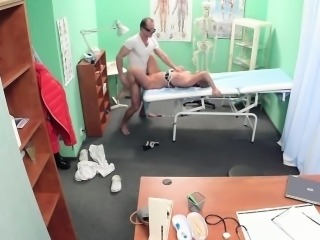 Creampied euro patient blowing docs dick