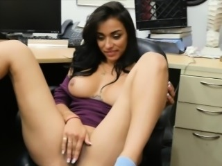 Big tits brunette babe gets fucked by pawnshop owner